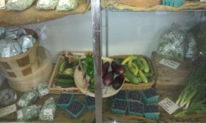 Fresh and local fruits and veggies...YUM!