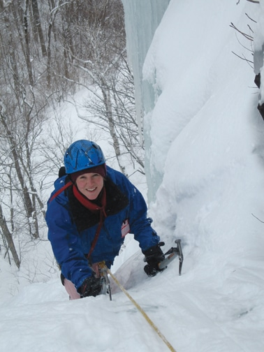 ice climbing in Maine