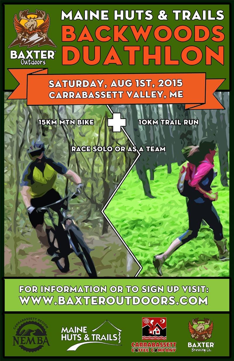 54c4f7495ba Maine Huts & Trails Backwoods Duathlon – 15K Mountain Bike + 10K Trail Run
