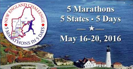 New England Challenge - 5 Marathons, 5 States, 5 Days