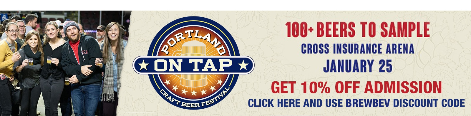 Get 10% off admission to Portland On Tap January 25