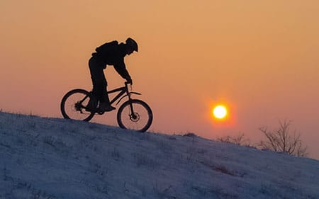 Try ripping up the snow on a fat bike!