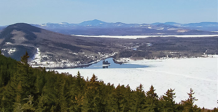 View from Kineo summit. Photo courtesy of Friends of Moosehead Lake.