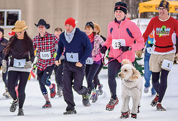 Baxter Outdoors Winter Cowboy Race at Mount Abram 2015.