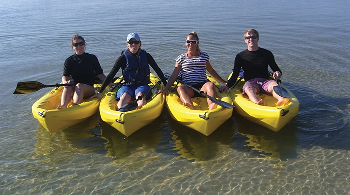 Kayaking at Ferry Beach