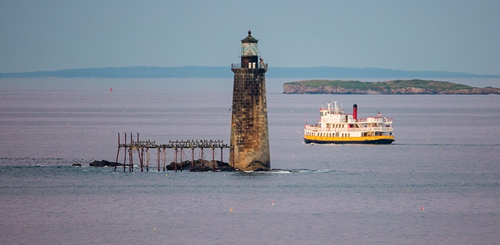 Portland ferry and lighthouse
