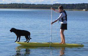 Stand-up paddleboarding at Ferry Beach, rent at Fun And Sun