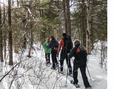 Winter hiking in Maine