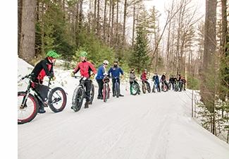 Winter biking in Maine
