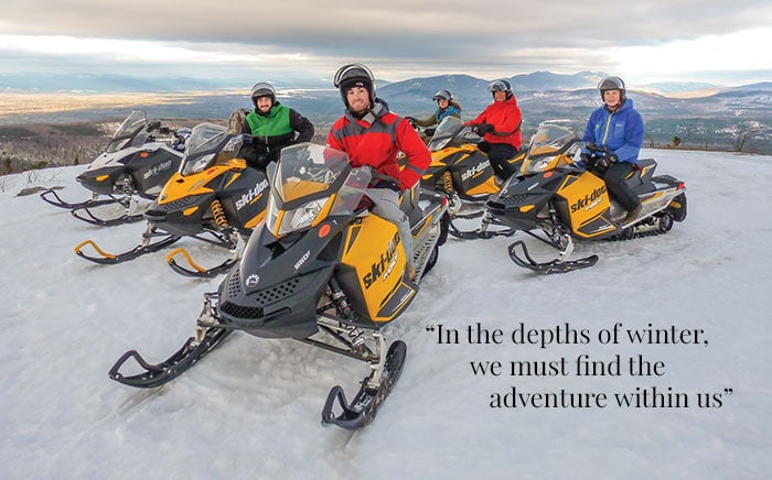 Quill Hill snowmobilers