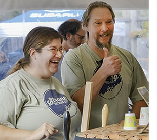 Meet Mia Strong, who with her husband Al, owns the Strong Brewing Company in Sedgwick, Maine