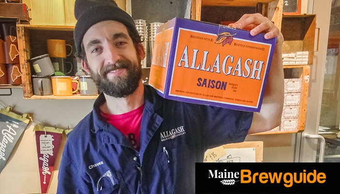 Patrick Chavanelle, Allagash brewer at the Industrial Way brewery in Portland. Photo: Dave Patterson