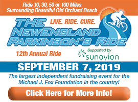 The New England Parkinson's Ride - the largest fund raising event for the Michael J. Fox Foundation in the country!
