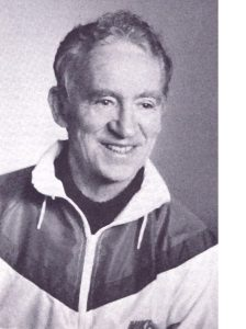 Dick Goodie, Founder and Race Director from 1969 to 1978. Author of The Maine Quality of Running, 1984.Photo: credit Photo from Dickie Goodie's book The Maine Quality of Running