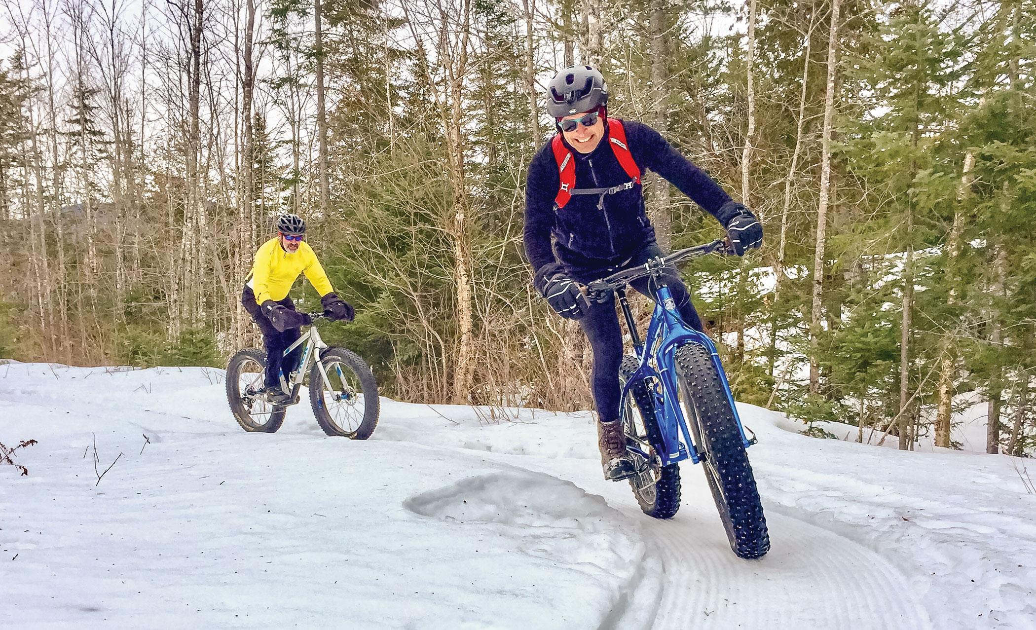 Fat biking in Maine
