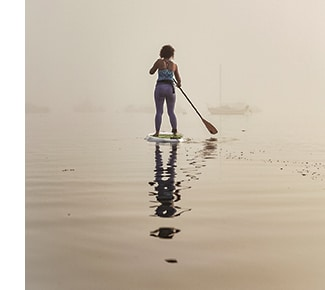 Reduce your screen time: Stand Up Paddle Boarding (SUP) is a fun alternative to traditional paddling and provides a full-body workout at the same time. On top of engaging the entire upper body, SUP flexes deep core muscles to keep you upright and cruising across your favorite body of water.