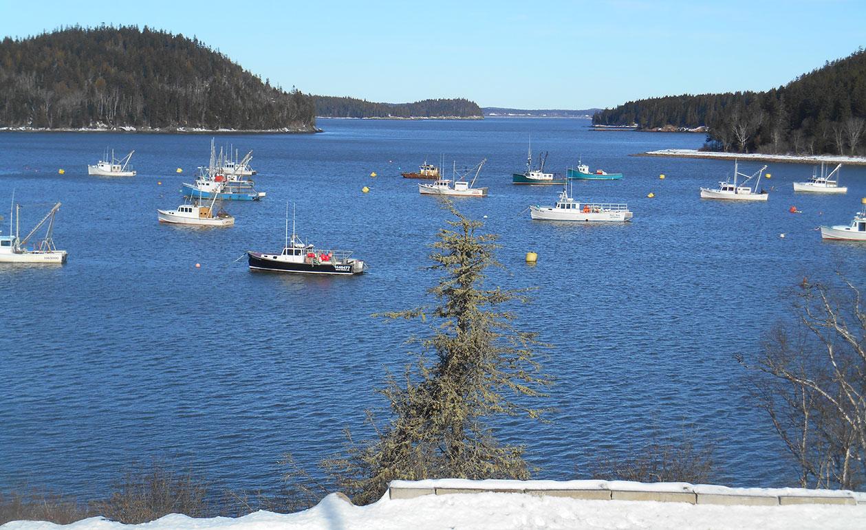 WInter in Machias, Maine