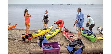 Preparing for paddle camping