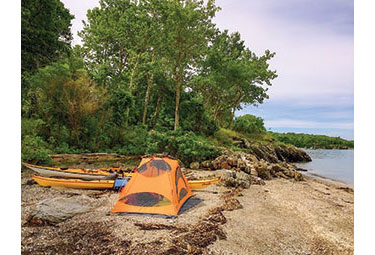Paddle Camping on a Beach