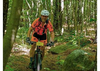 Biking in Rangeley