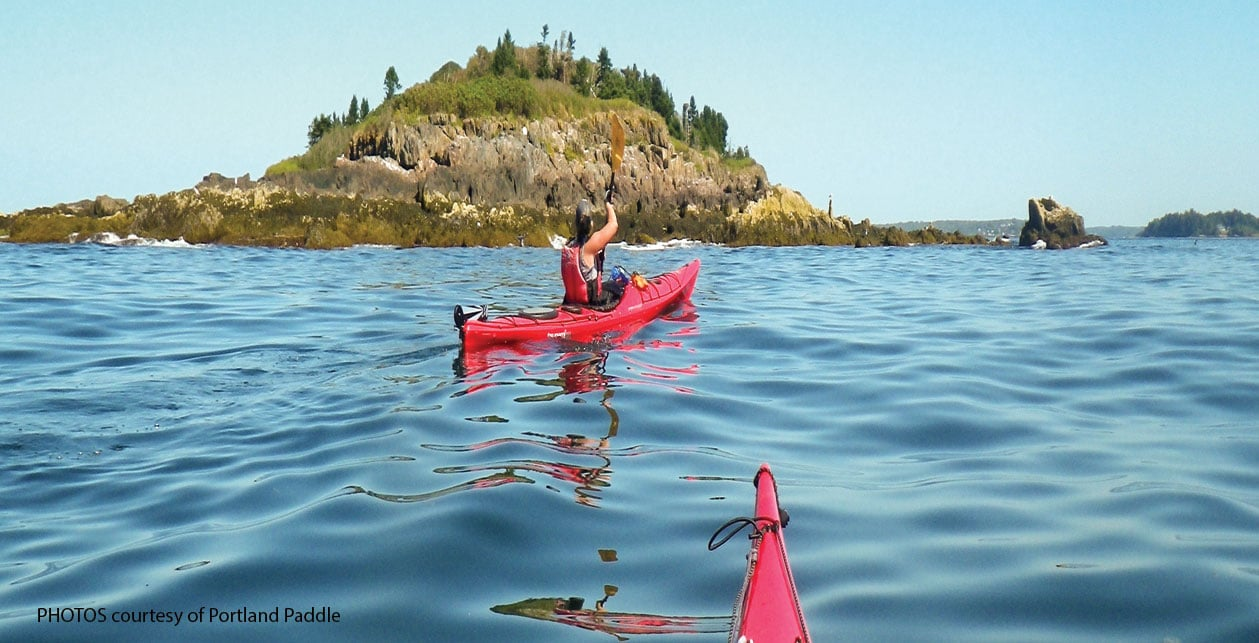 Paddling in Maine