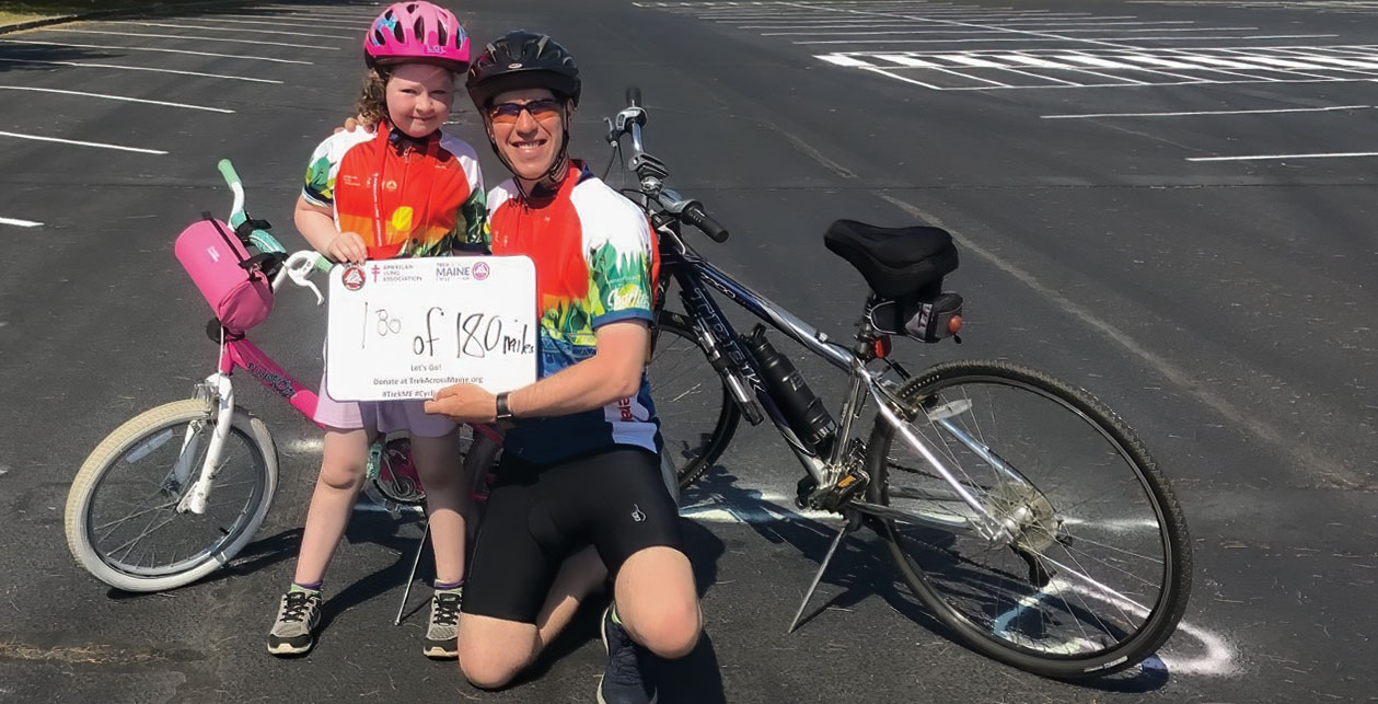 Greg and Kelsey Glynn after the Trek Across Maine